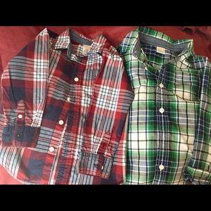 2 Boys Gymboree L/S Button Up Shirts